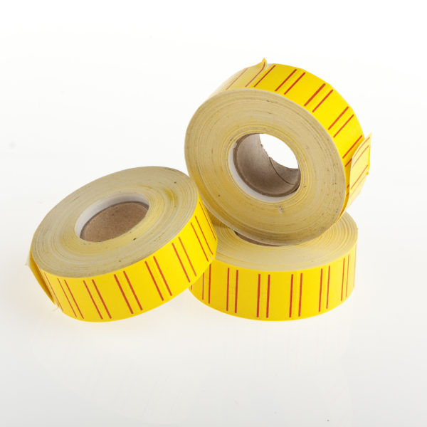 PACK (10×1500) LABELS 1Y YELLOW REDLINE 21x12mm