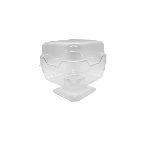 (10) ACRYLIC DESSERT CUP SQ. STAND 70x70x50 WITH LID 160ml