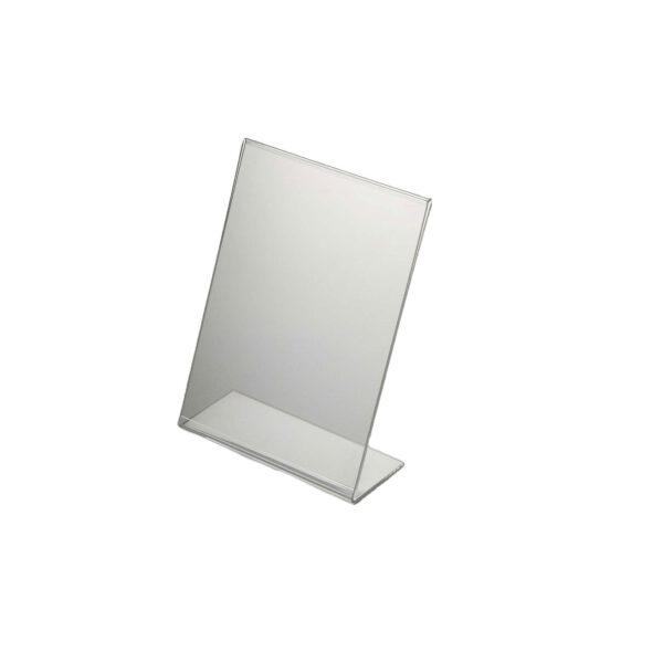Acrylic display stand A5 slanted