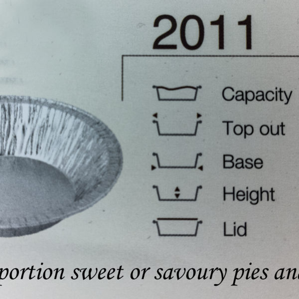 PACK (100) ALUM PIE TRAY 2011P 75×28