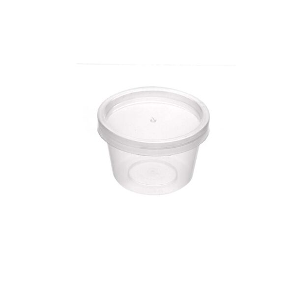 PACK (100) SAUCE TUB & LID CLEAR 30ml
