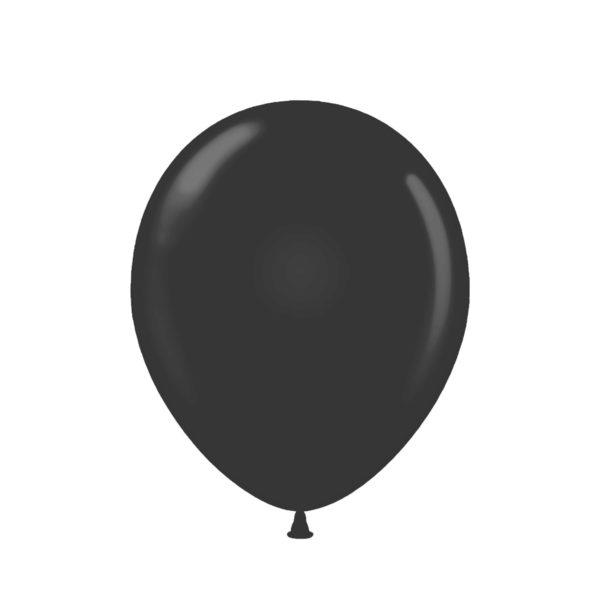 PACK (100) BALLOONS BLACK 12″