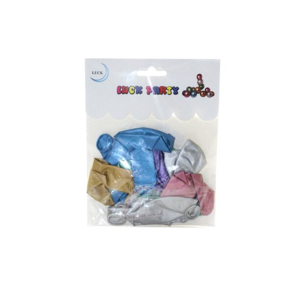 PACK (10) PARTY BALLOONS 12″ (CARDED)