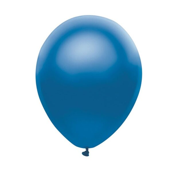 (100) METALLIC LIGHT BLUE 35cm BALLOONS (HELIUM/AIR)