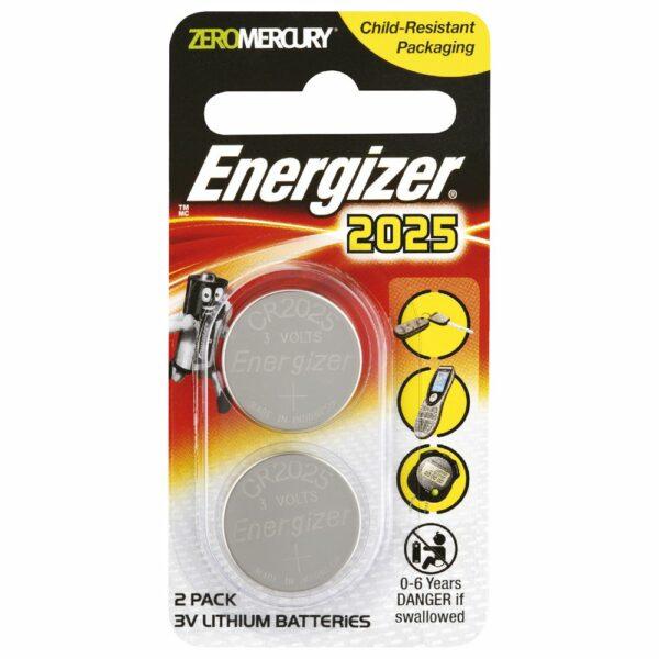 (PACK 2) 2025 3V Energiser Lithium Coin Battery