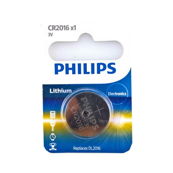 1 PHILIPS LITHIUM MINICELL CR2016 3V