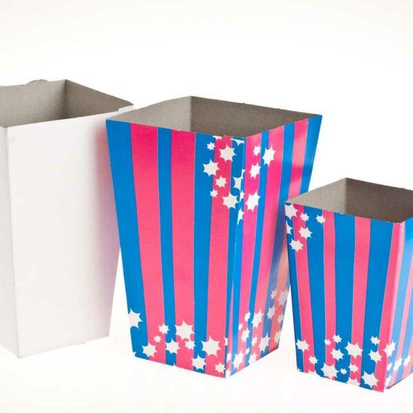 (100) POPCORN BOX PLAIN H15 xB8