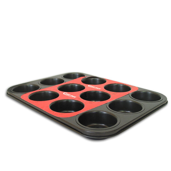 BAKEWARE MUFFIN PAN 12CUP 350x260x28
