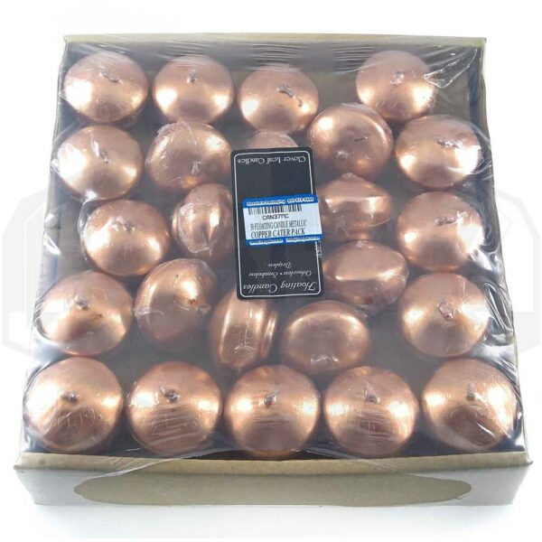 50 FLOATING CANDLE METALLIC COPPER CATER PACK