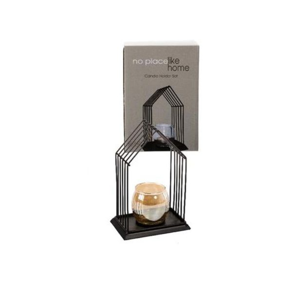 2pc tealight candle holder metal frame tower 1 (TBD)