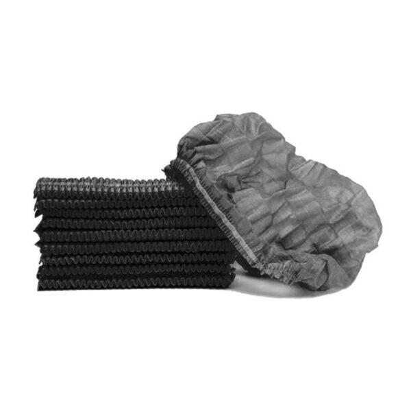 X100 MOP CAPS WITH ELASTIC BLACK