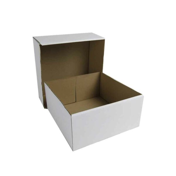 (1) CORRUGATED CAKE BOXES 10″ base+lid