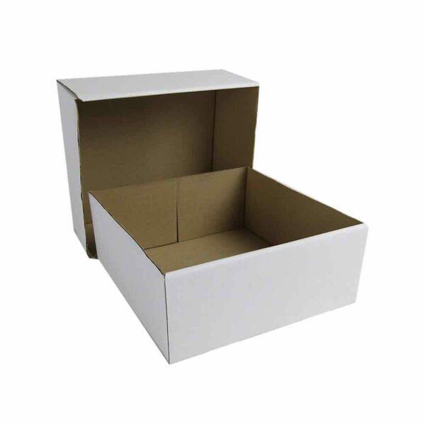 (10) CORRUGATED CAKE BOXES 12″ base+lid