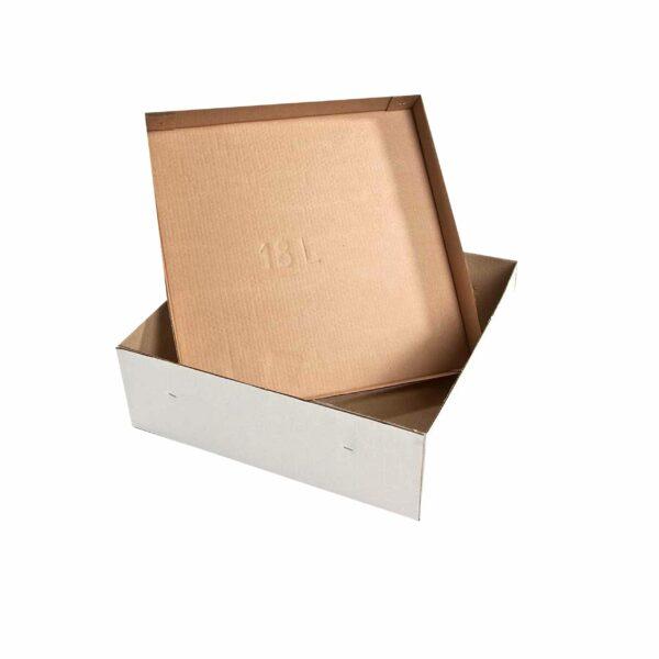 (10) CORRUGATED CAKE BOXES 18″ base+lid