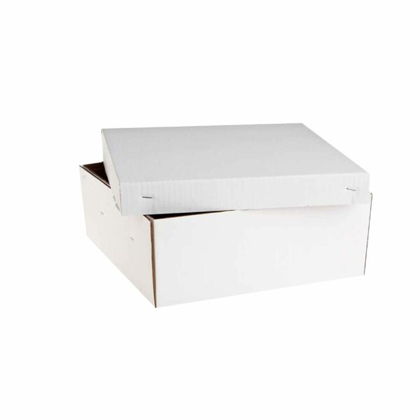 (10) CORRUGATED CAKE BOXES 20″ base+lid
