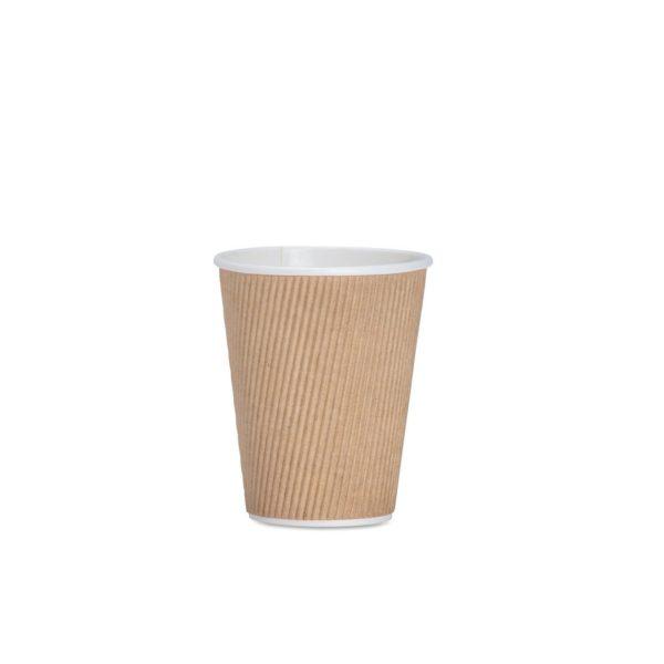 CASE (1000) COFFEE CUP RIPPLE BEAN 250ml