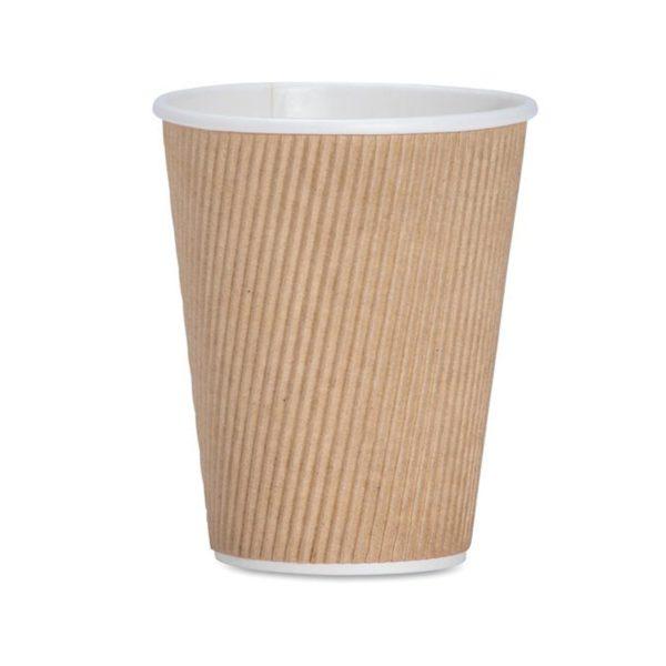 CASE (1000) COFFEE CUPS RIPPLE BEAN 350ml