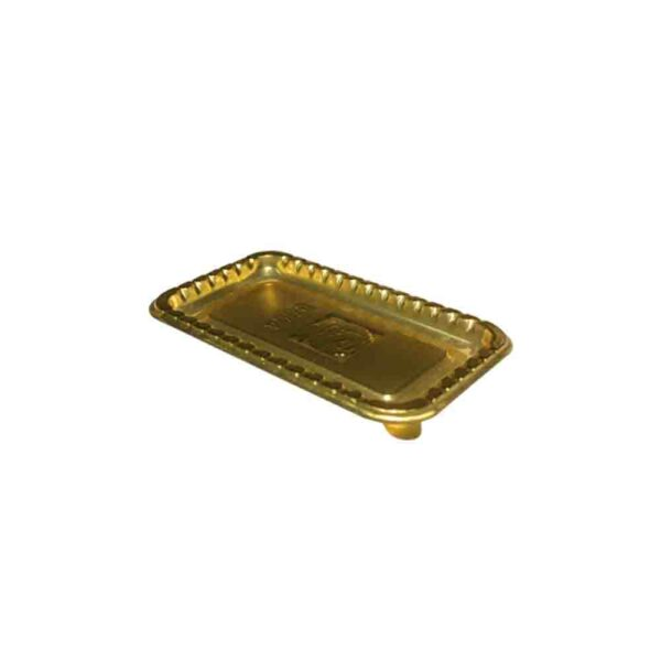 100's CAKE/PASTRY BASE RECTANGLE 10×5.5cm Gold
