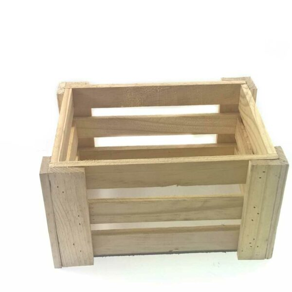 NATURAL WOODEN CRATE 25X18X15