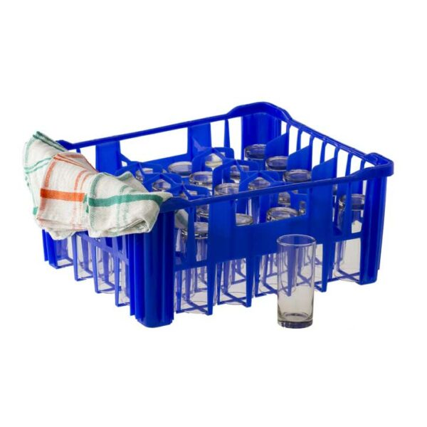 PLASTIC 30 DIVISION BLUE CRATE FOR TUMBLERS