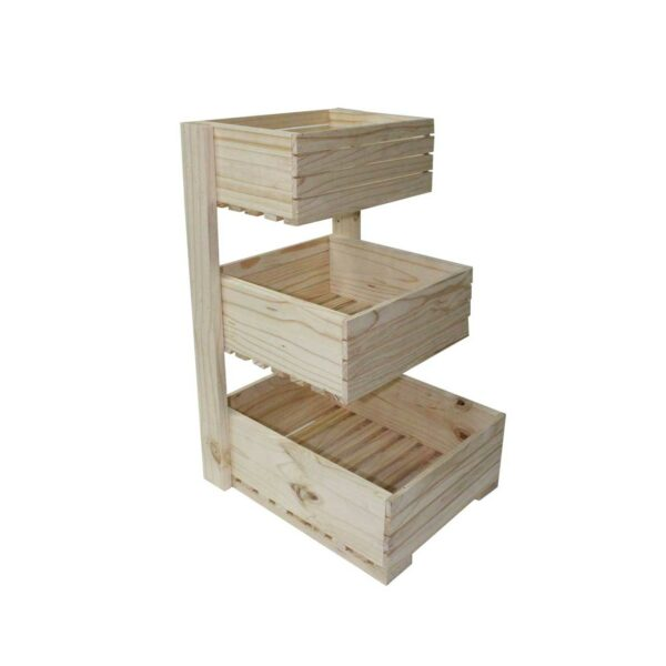 3 TIER WOODEN CRATE SQUARE STEPPED