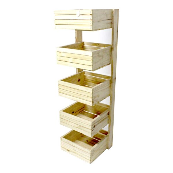 EACH 5 TIER WOODEN CRATE  350x350x140mm 1.4m (h)
