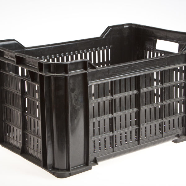 BLACK PLASTIC CRATES FOR PLATES RECT. 530x350x290