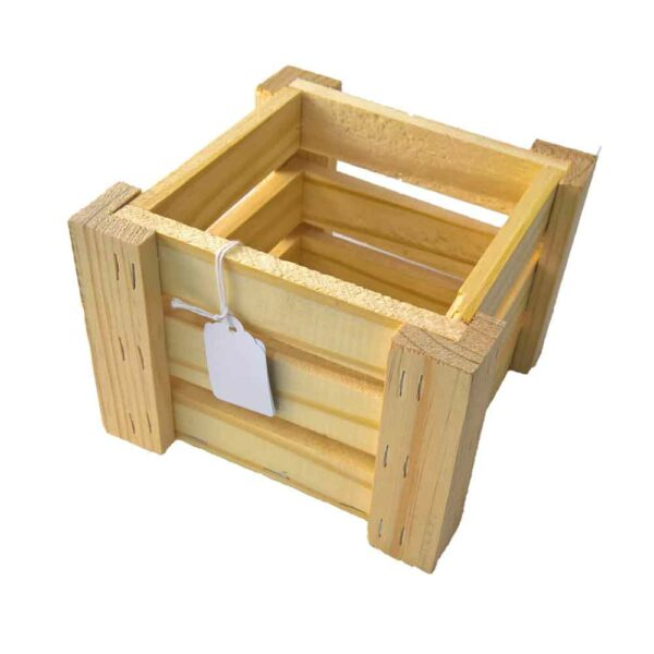 NATURAL WOODEN CRATE 14×14.5×11.5cm