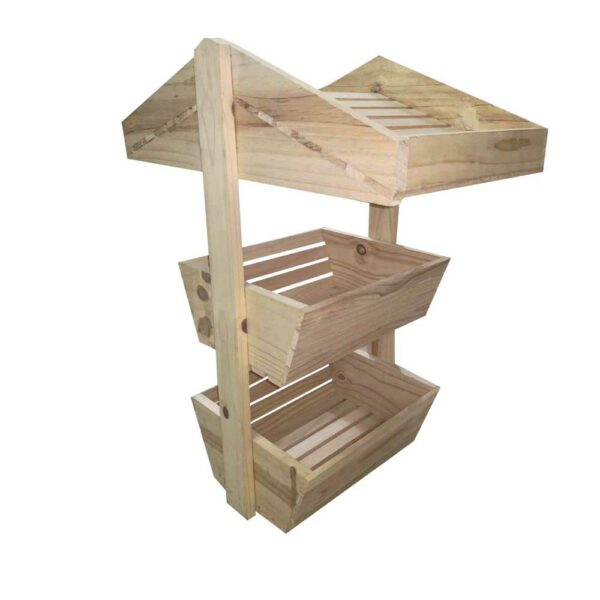 EACH 3 TIER WOODEN CRATE umbrella baskets LARGE