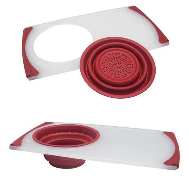 COLLAPSIBLE COLANDER & CUTTING BOARD 29x50cm