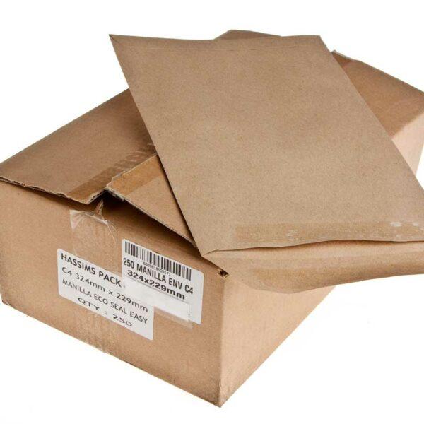 Box (250) 324×229 C4 Manilla Envelopes