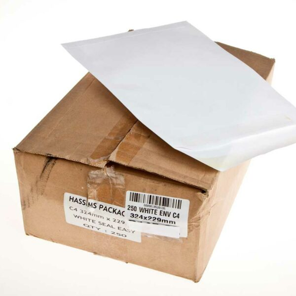 BOX (250) C4 WHITE ENVELOPES 324×229