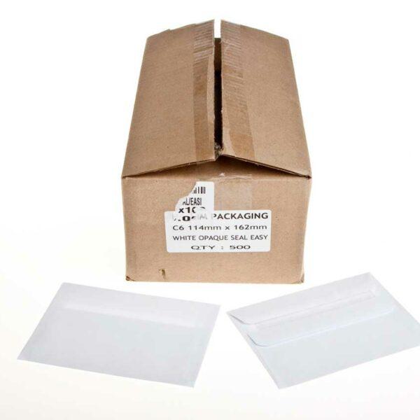 Box (500) 114×162 C6 White Envelopes S/Eas