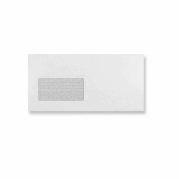 Box (500) 110×220 DL White Envelopes Window S/Eas