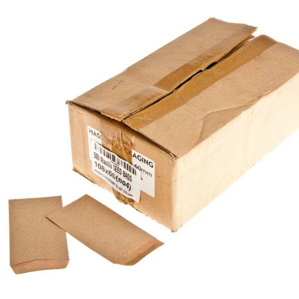 Box (500) 108×60 (no4) Manilla SEED BAGS