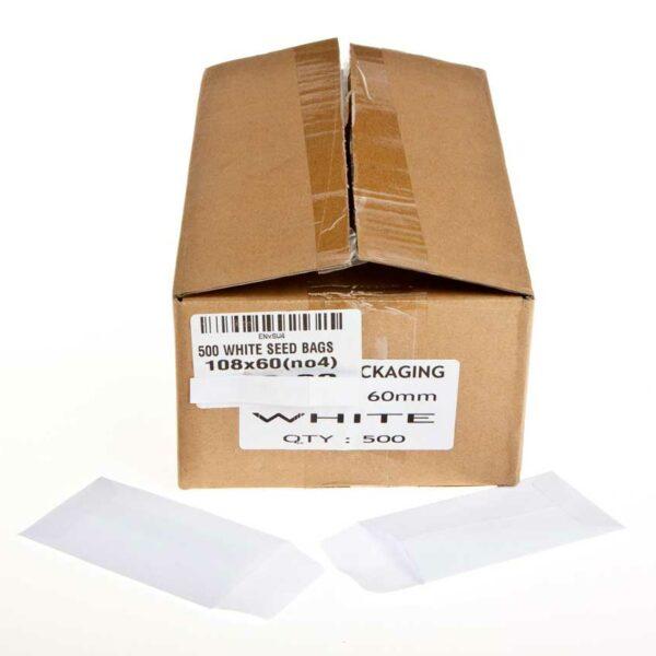 Box (500) 108×60 (no4) White SEED BAGS