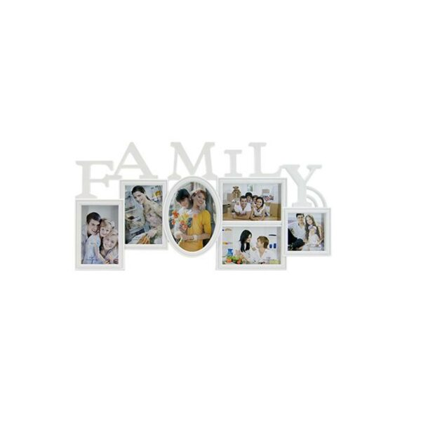 6 PICTURE FAMILY FRAME WHITE