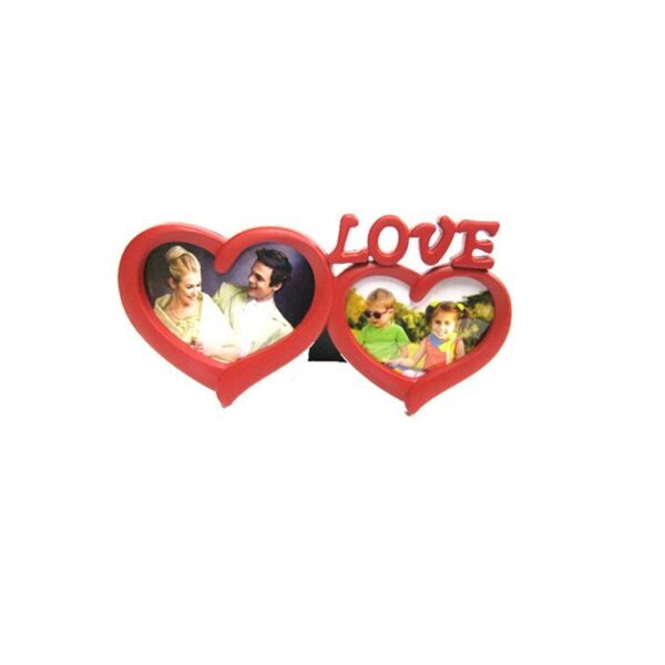 FRAME LOVE HEARTS RED 14×6.5 / 12x6cm
