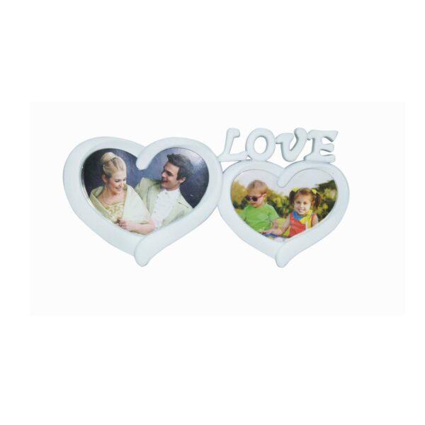 FRAME LOVE HEARTS WHITE 14×6.5 / 12x6cm