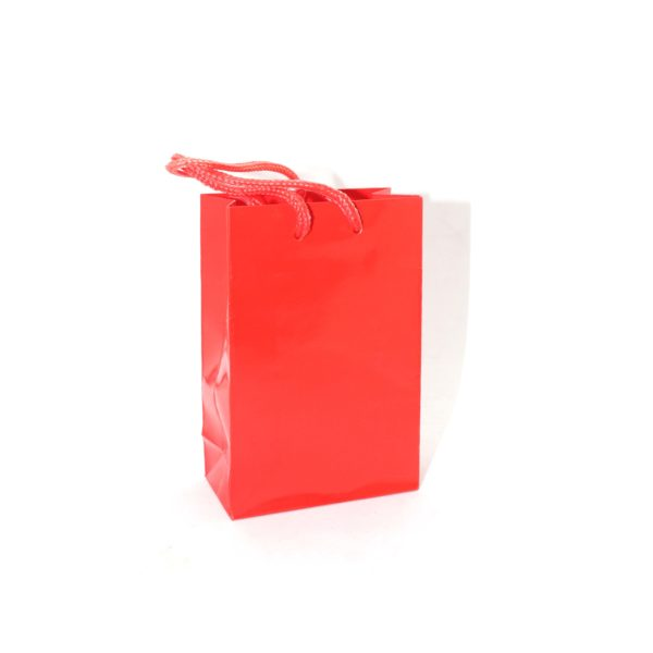 BAGS PLAIN 8cmX12cm RED