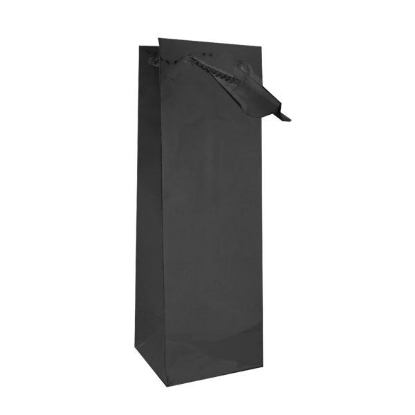 PK(12) BOTTLE BAG BLACK 10+9x33cm
