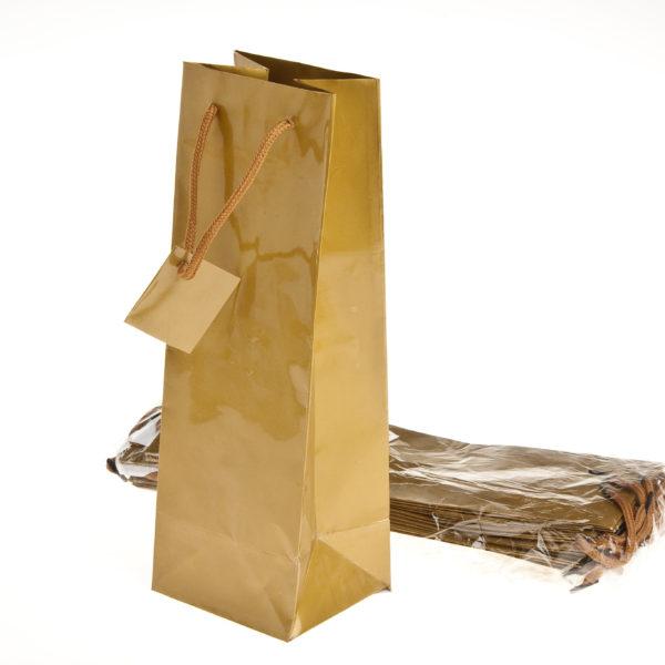 xBOTTLE BAG GOLD 100+90x330mm
