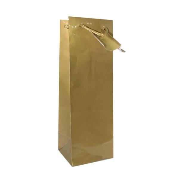 PK(12) BOTTLE BAG GOLD 10+9x33cm