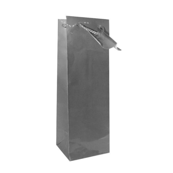 PK(12) BOTTLE BAG SILVER 10+9x33cm