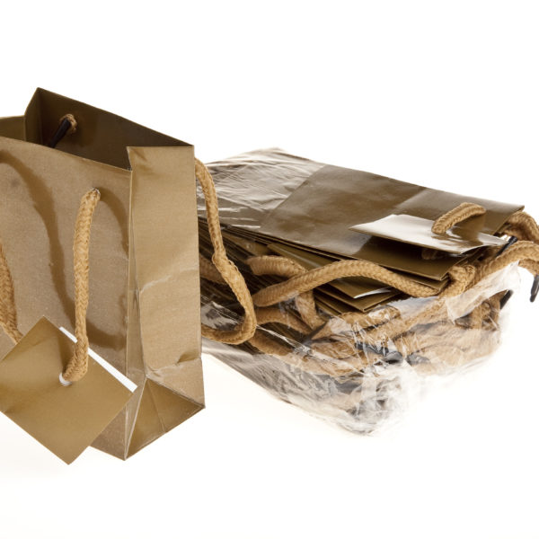 xGIFT BAG PLAIN 110+65×140 GOLD