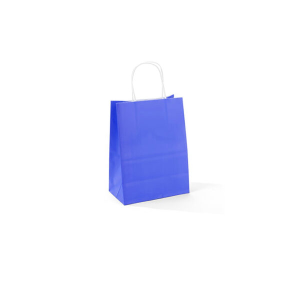 PACK (12) GIFT BAGS PAPER ASSORTED COLOURS 11+6x15cm