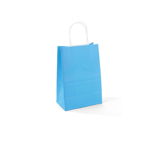 PACK (12) GIFT BAGS PAPER ASSORTED COLOURS 15+8x21cm