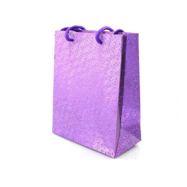 PK 12's GIFT BAGS 16+8x20cm METTALIC DESIGN asst COLS