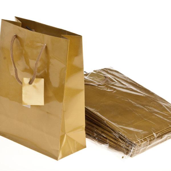 xGIFT BAG PLAIN GOLD175+95x225m