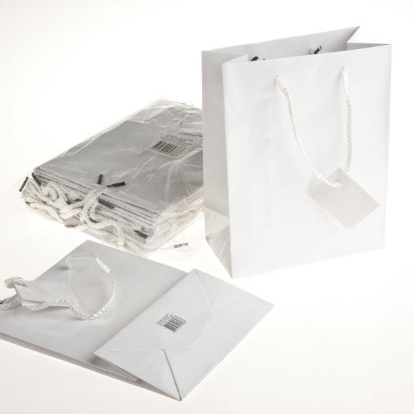 PK(20) GIFT BAG 17+8×22 WHITE
